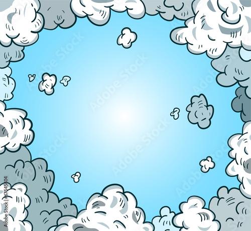 comic sky style. Vector illustration