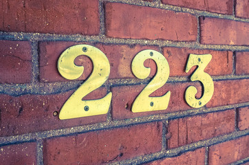 Address Numbers Closeup