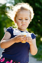 little girl eating an ice-cream