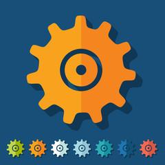 Flat design: cogwheel