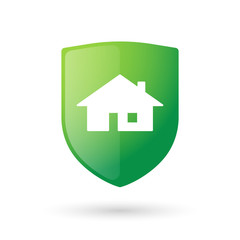 Shield icon with a house