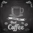 Hot Coffee on chalkboard
