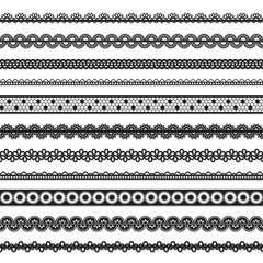 collection of vector seamless lace
