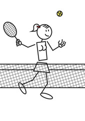 Stick figure tennis female