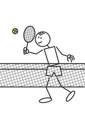 Stick figure tennis
