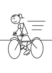 stick figure cycling female