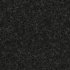 Seamless monochrome pattern with flowers