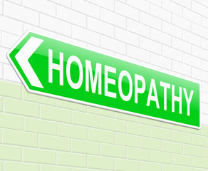 Homeopathy concept.