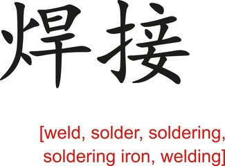 Chinese Sign for weld, solder, soldering,soldering iron,welding