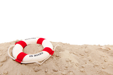 Life buoy at the beach
