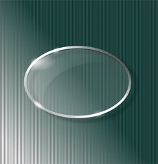 Lined background with glass ellipse