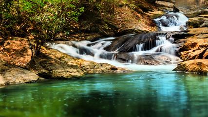 Landscape local waterfall.