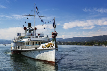 ship on the Zurich Lake, Switzerland