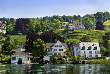 shores of Lake Zurich, Switzerland