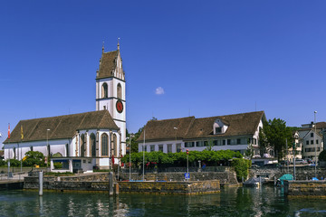 church on Zurich lake, Switzerland