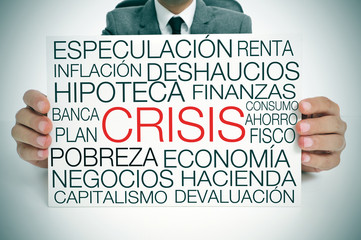 economic crisis, in spanish