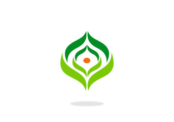 green abstract ecology vector logo