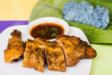 Grilled chicken coriander