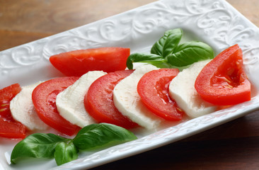 Plate with mozzarella