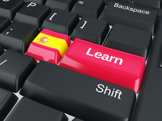 spain Learn. Education concept