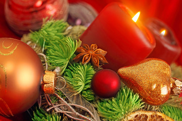 Weihnachtszeit und Kerzenschein