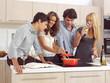 Friends Preparing Breakfast l