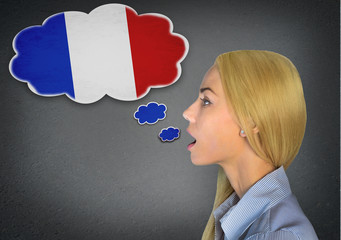 French learning woman