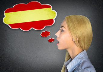 Spanish learning woman