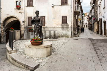 the streets of Scanno