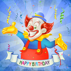 clown happy birthday
