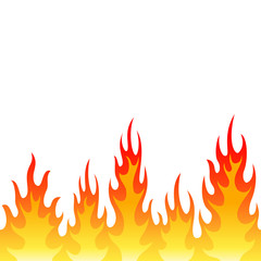Seamless fire flame background