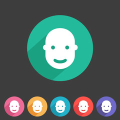User avatar, face, profile flat icon