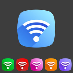 Wireless, wifi flat icon