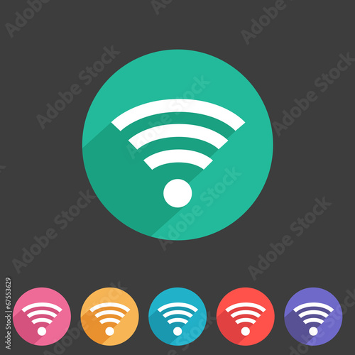 Wireless, wifi flat icon - 67553629