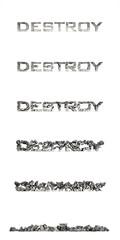Destroy (разрушение букв)