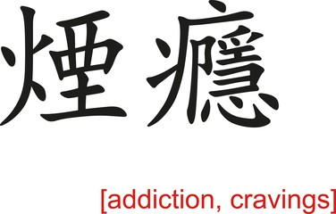 Chinese Sign for addiction, cravings