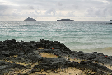 Views from beach at Floreana island