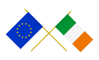 Flags, Ireland and European Union
