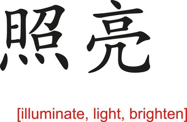 Chinese Sign for illuminate, light, brighten