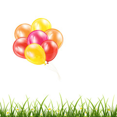 Balloons and grass