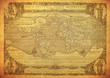 vintage map of the world 1602..