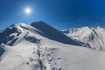 Negoiu Peak in winter