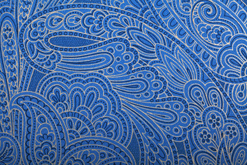 Vintage blue paisley wallpaper