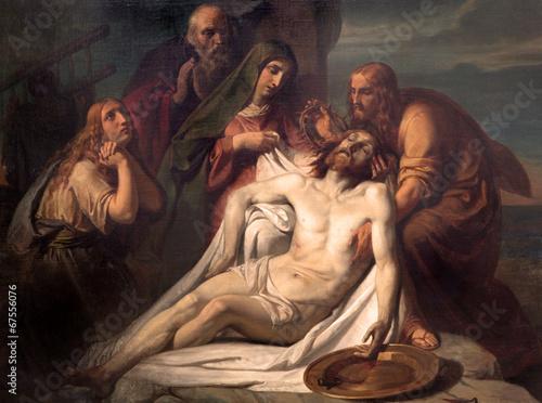 Zdjęcia na płótnie, fototapety na wymiar, obrazy na ścianę : Brussels - Paint of Deposition from the cross.