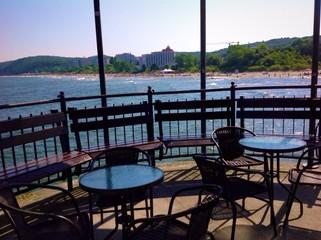 coffee house at seaside, Miedzyzdroje