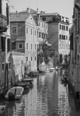Venice - Look to canal from Ponte de San Francesco bride