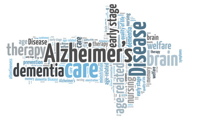 Alzheimer's desease word cloud