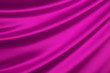 Pink silk textile background with copy space