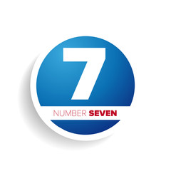 Number seven label or tag