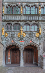 Bruges - The portal of the Basilica of holy blod.